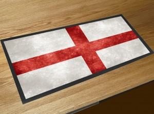 St Georges flag pub bar runner mat