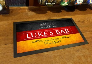 Personalised Welcome German flag bar runner