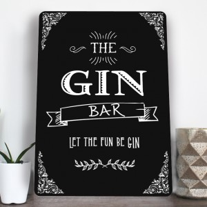 The Gin bar vintage style metal sign