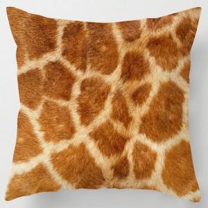 Giraffe skin print cushion