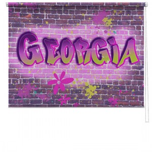 Graffiti girl printed childrens blind
