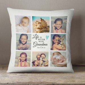 Personalised Grandma gift, Photo collage cushion