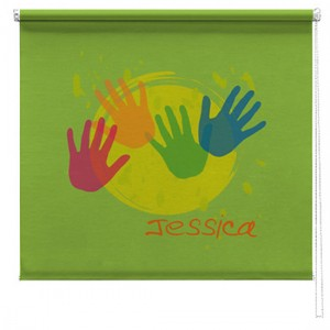 Hands printed childrens blind