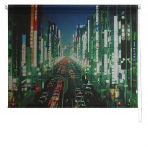 Hong Kong street printed blind