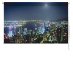 Hong Kong sky printed blind