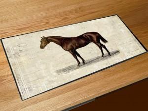 Vintage Horse bar runner mat