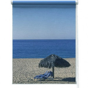 Seascape printed blind