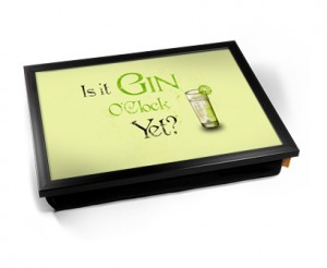 Gin O'Clock Laptray