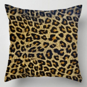 Leopard fur print cushion