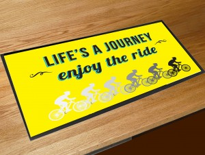Lifes a journey enjoy the ride bar runner