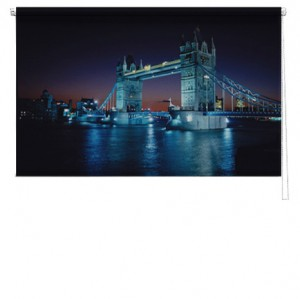 London bridge printed blind