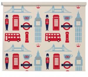 London Iconic pattern blind