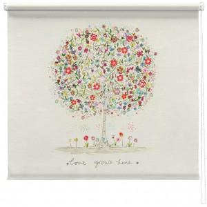 Love grows here printed blind