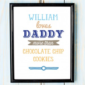 Personalised Fathers day love daddy more than canvas art print