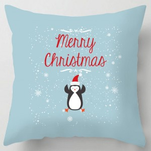 Merry Christmas Penguin cushion