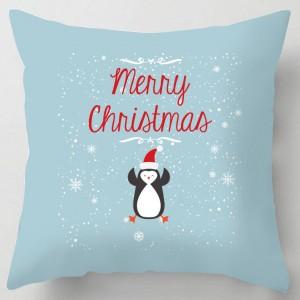Merry Christmas Penguin cushion