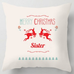 Merry Christmas Sister cushion