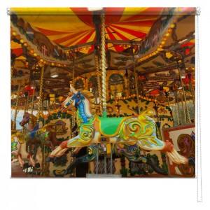Fairground Merrygoround Horse printed blind