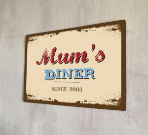 Personalised Mum's Diner Sign