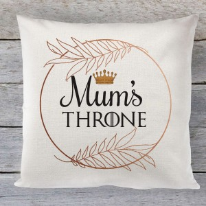 Mums Throne linen cushion