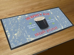 Murphys bar Irish Stout bar runner counter mat