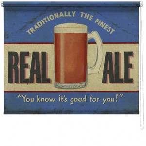 Real Ale printed blind martin wiscombe