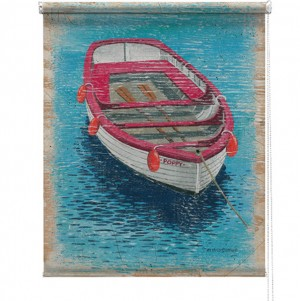 Rowing boat printed blind martin wiscombe