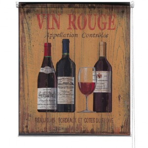 Vin Rouge printed blind martin wiscombe