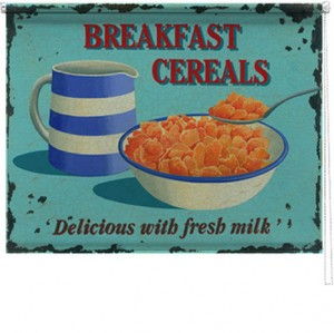 Breakfast Cereals printed blind martin wiscombe
