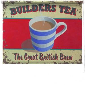 Builders Tea printed blind martin wiscombe