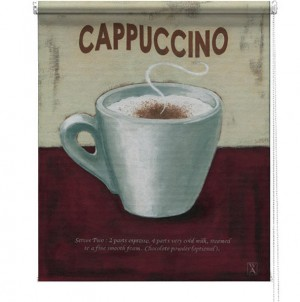 Cappuccino printed blind martin wiscombe