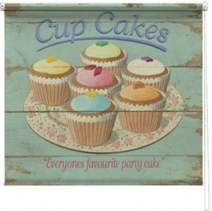 Cupcakes printed blind martin wiscombe
