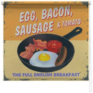Fried Breakfast printed blind martin wiscombe