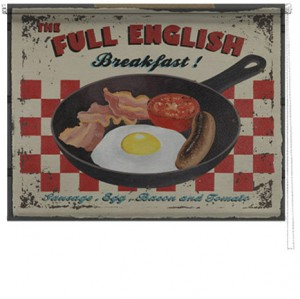 Full english breakfast printed blind martin wiscombe