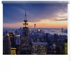 New York sized printed blind
