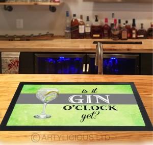 Is it Gin O'clock Grey band Bar Runner