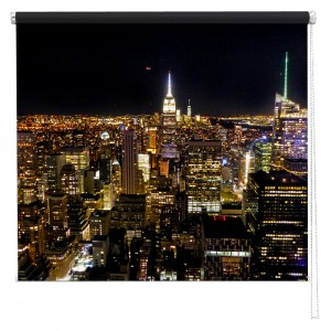 New York skyline view from the Rockefeller printed blind