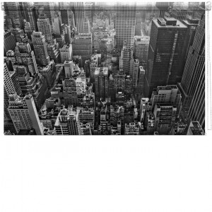 New York view Printed Blind