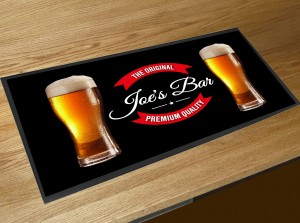 Personalised Original beer pints bar runner