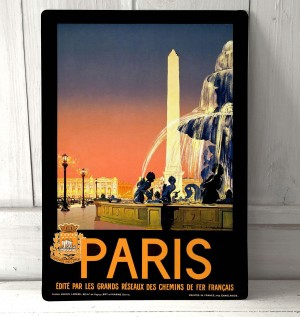 Paris France Vintage Sign