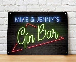 Personalised Gin Bar neon Sign