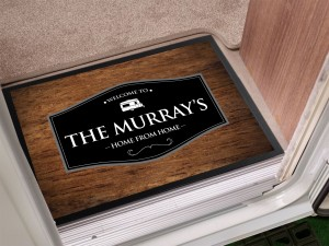 Personalised Caravan Door Mat