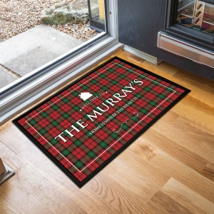 Personalised Tartan Door Mat