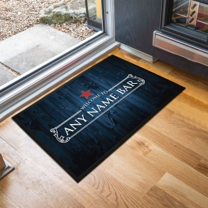Personalised dark blue Bar Door Mat