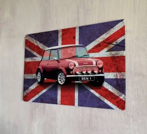 Personalised Union Jack Mini number plate Sign