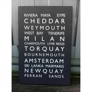Personalised Destination Bus Blind Canvas