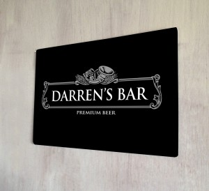 Personalised Silver Beer Label Sign