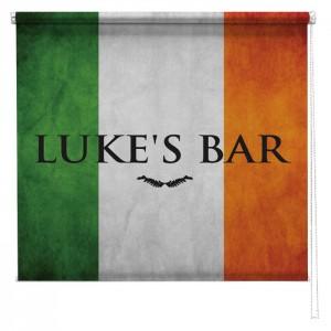 Personalised Irish Flag sign printed blind