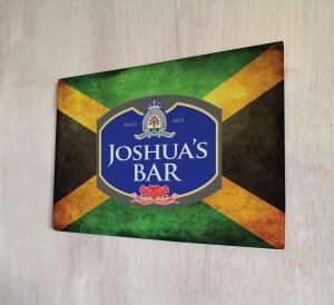 Personalised Beer Label Jamaican Flag Sign