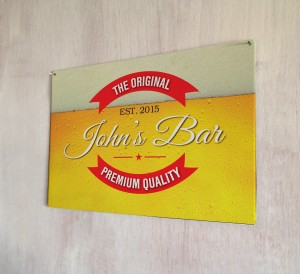 Personalised Beer bubble Label Original Sign